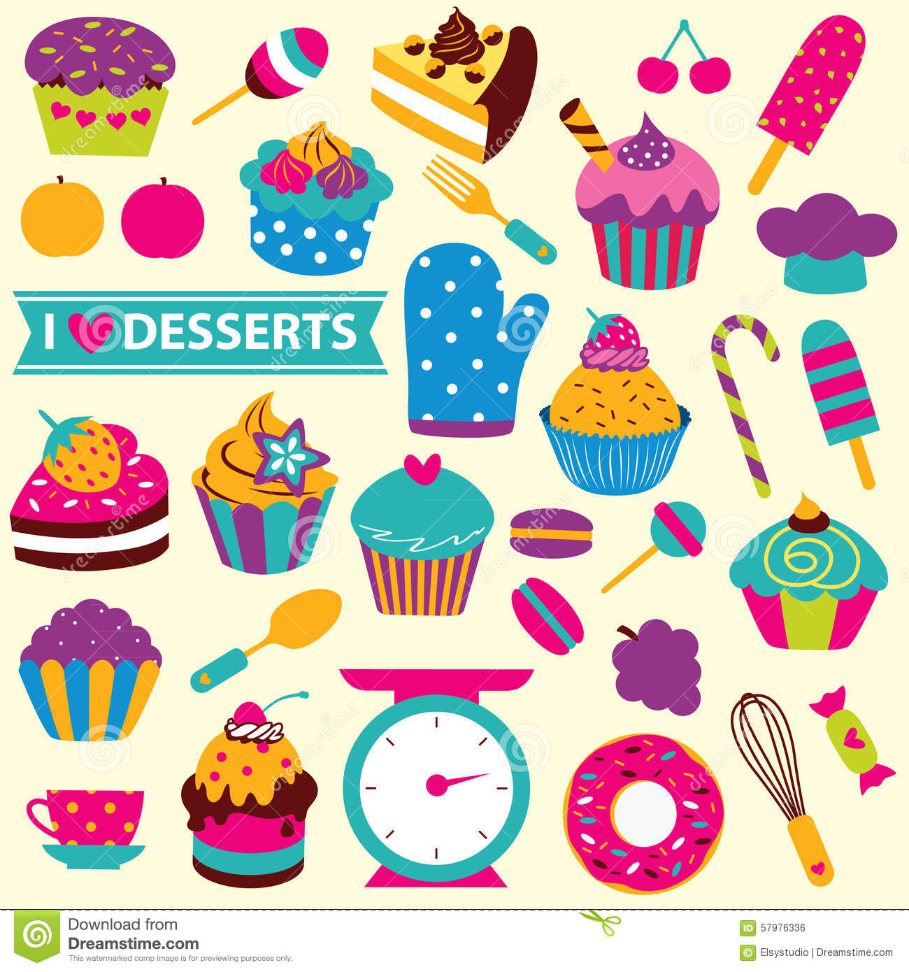 Dessert clipart cute. Free images desserts for
