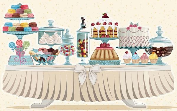 . Dessert clipart dessert buffet
