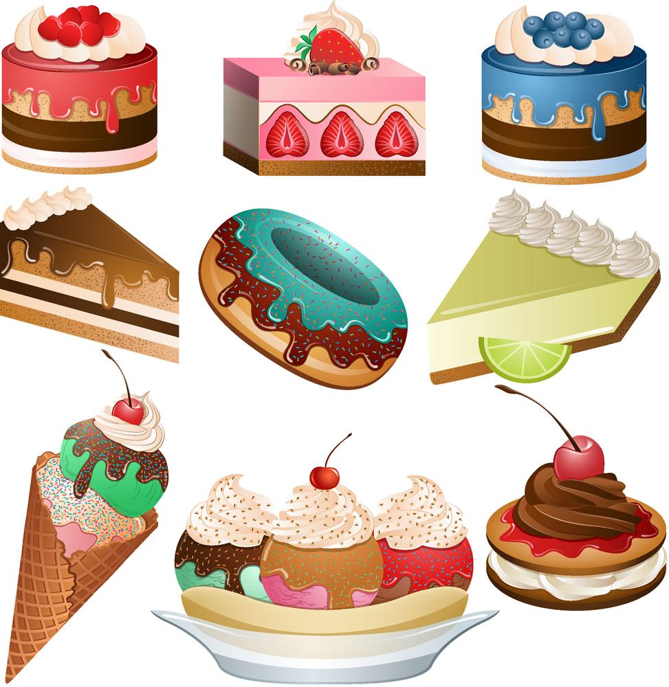 Cuisine breakfast cupcake cherry. Dessert clipart dessert french