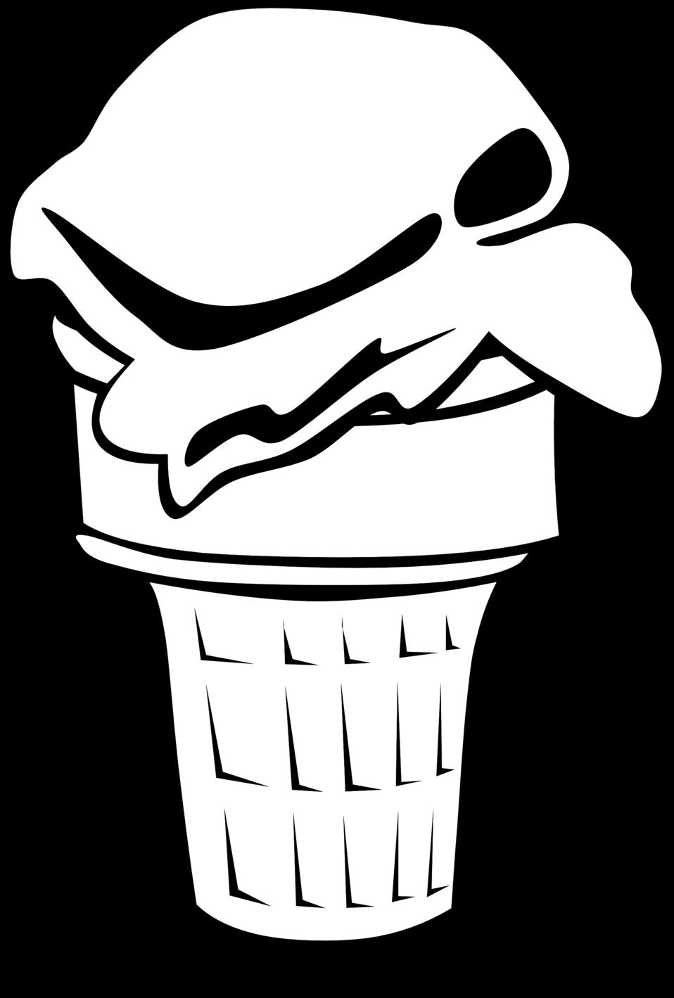 Public domain clip art. Desserts clipart black and white