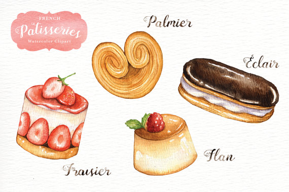 Desserts clipart dessert french. Pin on products