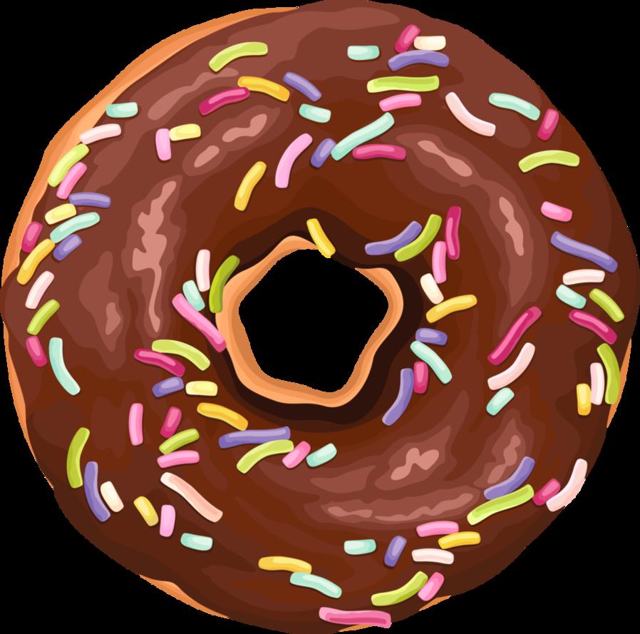 Brown sprinkled by rosemoji. Doughnut clipart pastel