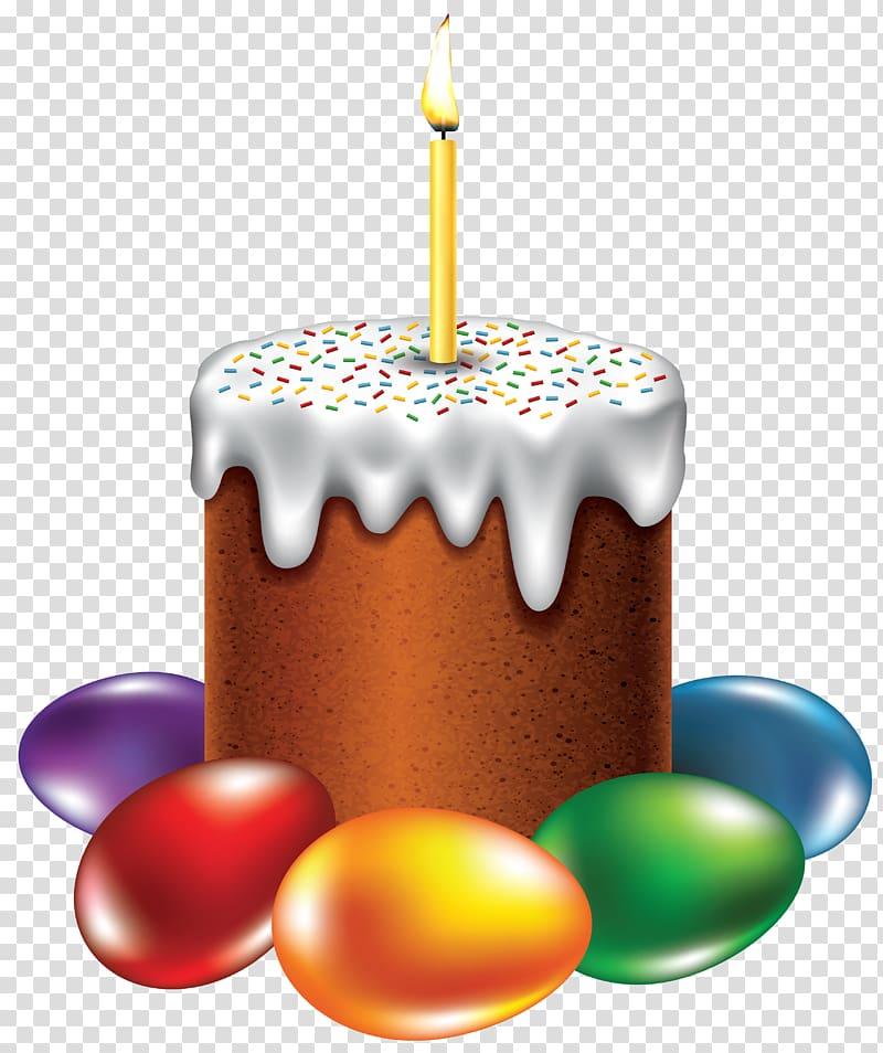 Happy birthday cake paschal. Dessert clipart easter