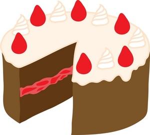 Top cakes clip art. Desserts clipart half cake