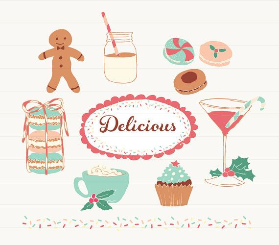 Desserts clipart holiday dessert. Holidays and drinks for