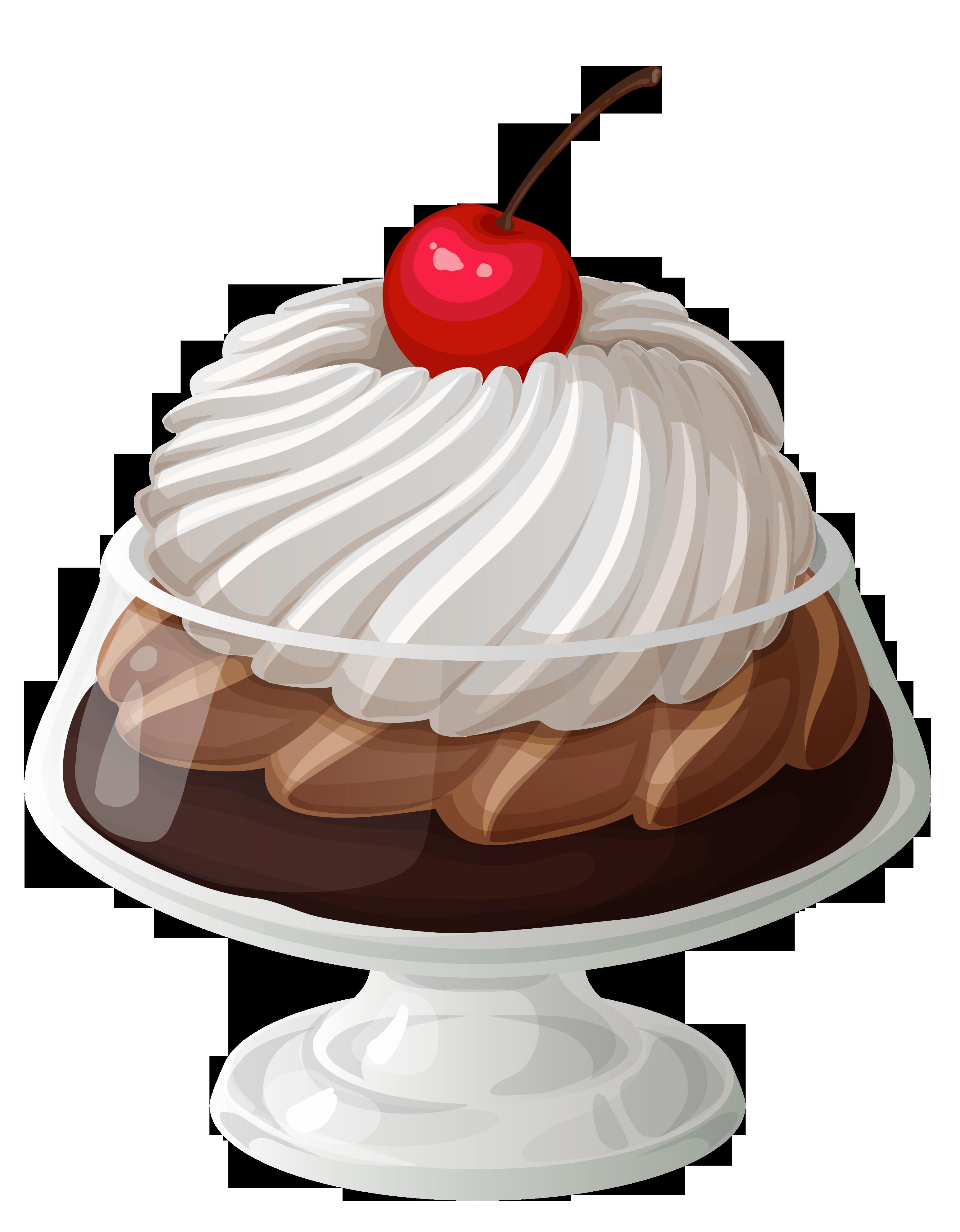 Desserts clipart hot fudge sundae. Chocolate ice cream transparent