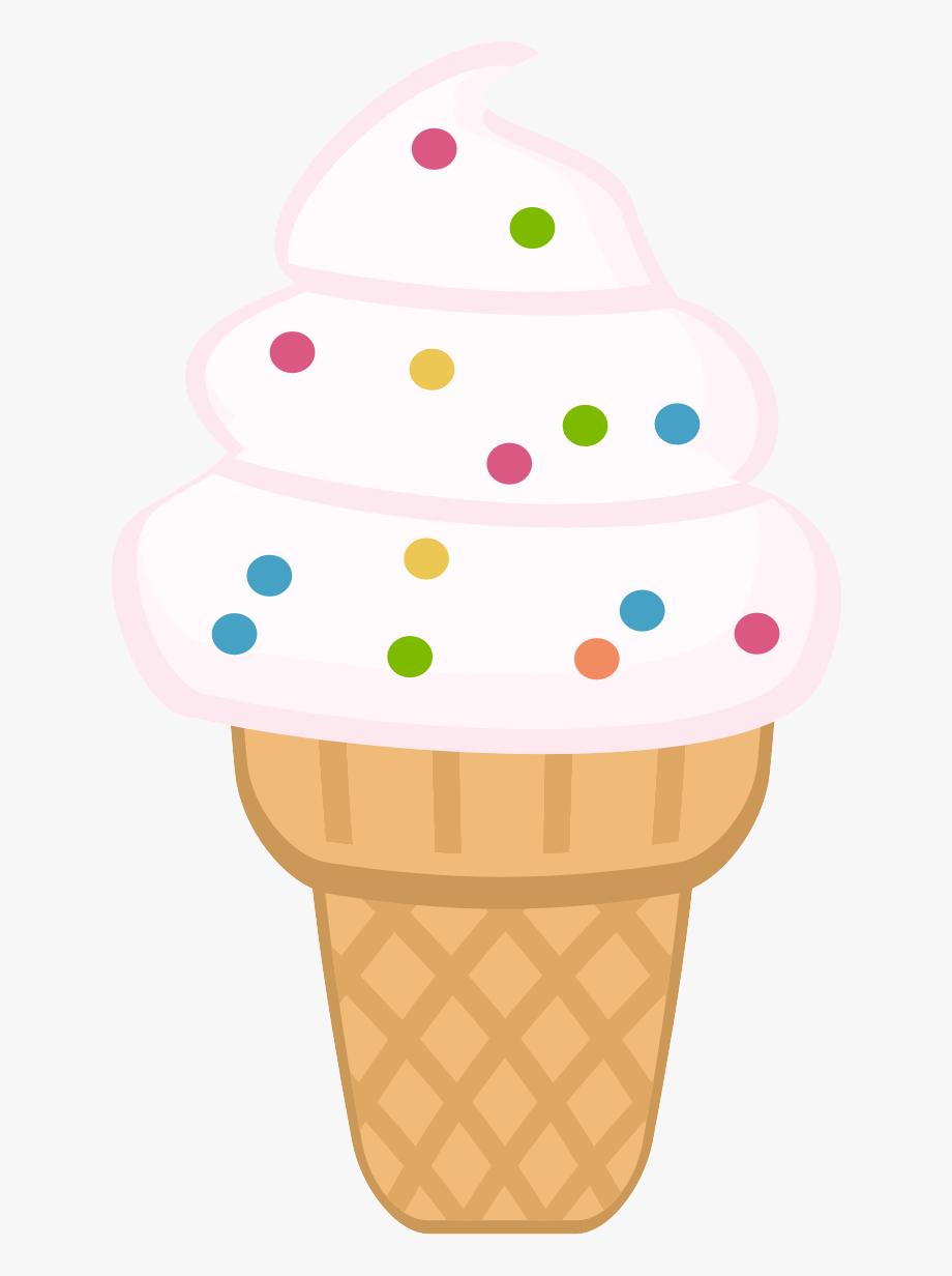 Icecream colouring cream cone. Dessert clipart ice crem
