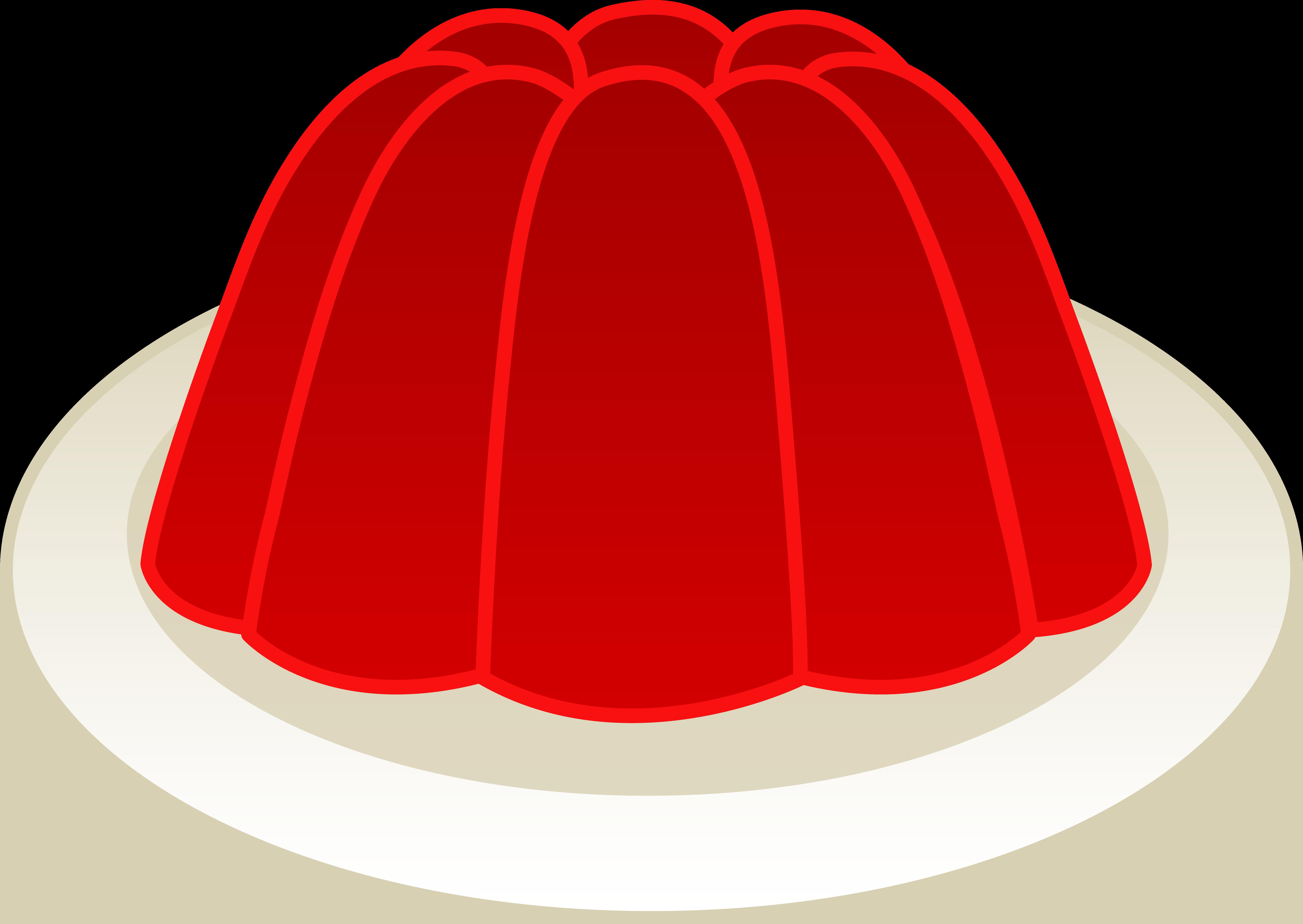 Jellyfish clipart vector. Red cherry gelatin mold