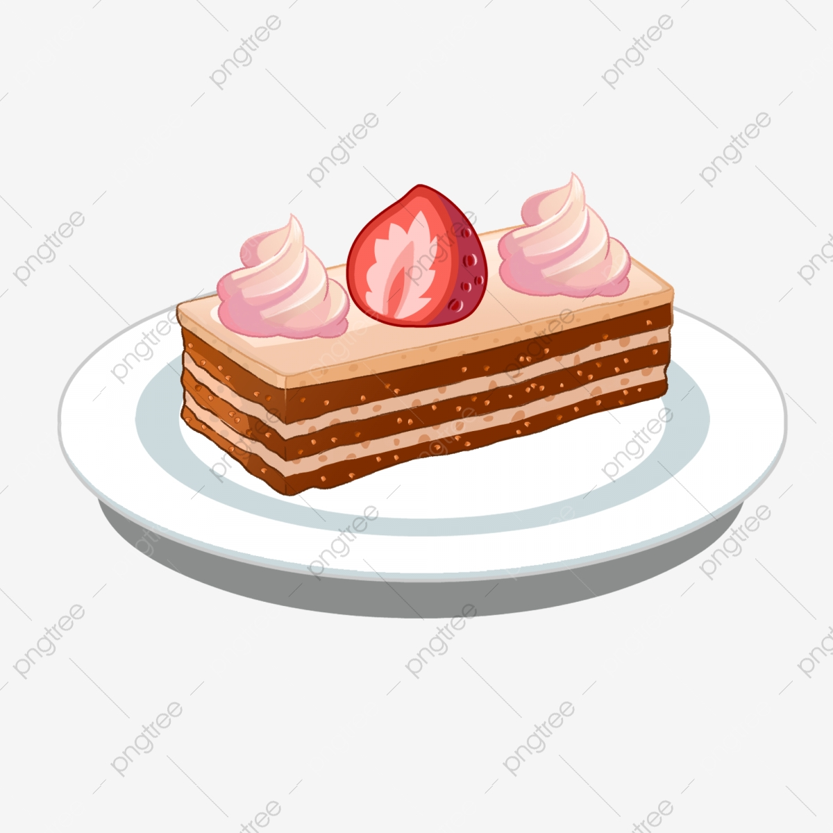 Creamy strawberry sweets png. Dessert clipart mousse cake