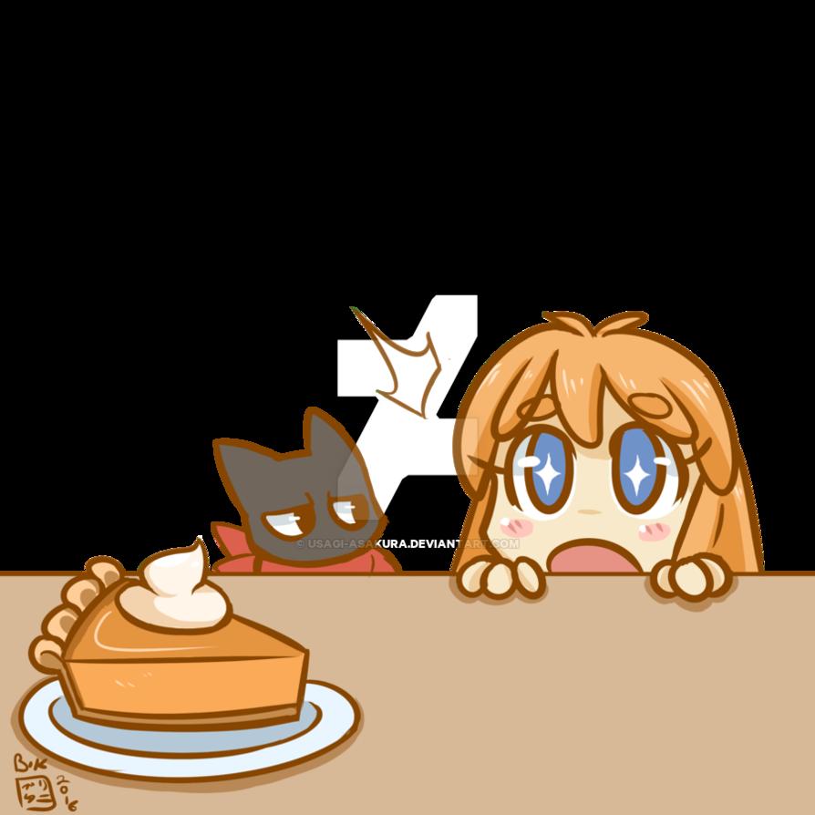 Huevember by usagi asakura. Desserts clipart pumpkin pie
