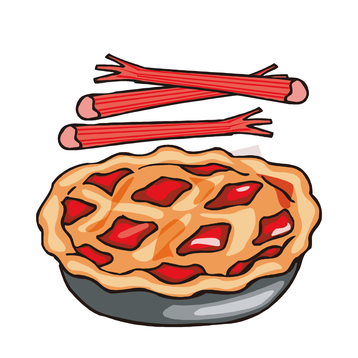 Strawberry pumpkin apple clip. Dessert clipart rhubarb pie