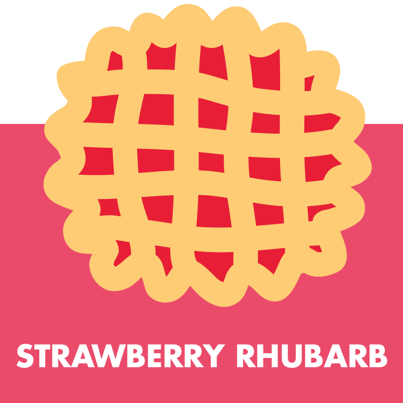 Dessert clipart rhubarb pie. The maine co strawberryrhubarb