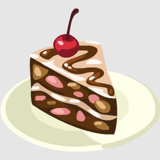 Rocky cake clip art. Dessert clipart road