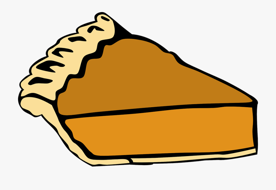 Pumpkin piece baked sweet. Pie clipart slice pie