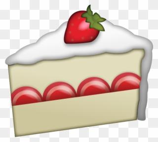 Dessert clipart strawberry shortcake dessert. Slice iphone emoji cake