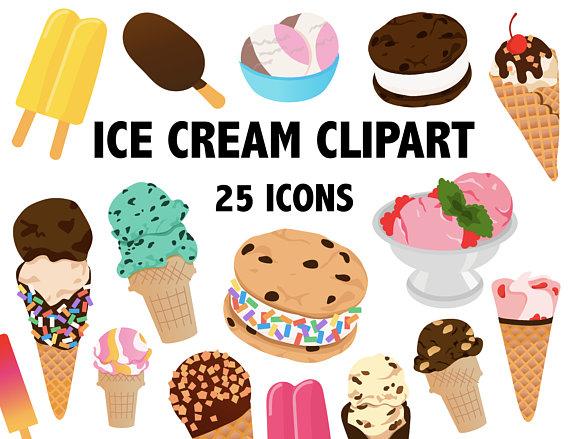 Ice cream popsicle summer. Desserts clipart dessert bar