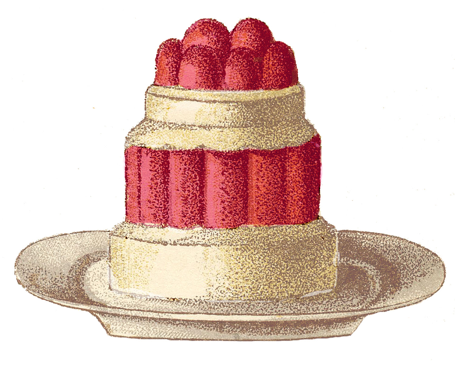 Clip art french the. Desserts clipart vintage