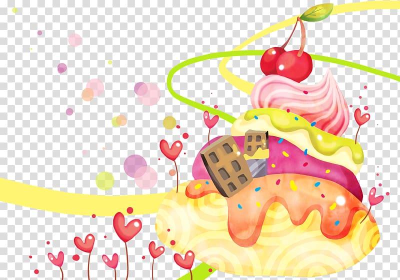 Dessert clipart wallpaper. Ice cream torte animation