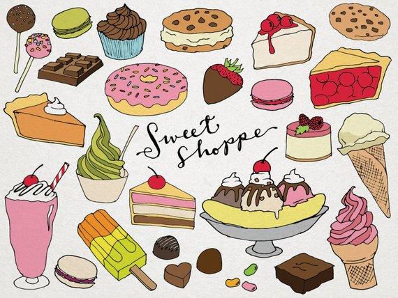 Dessert clipart kitchen. Desserts sweet shoppe clip