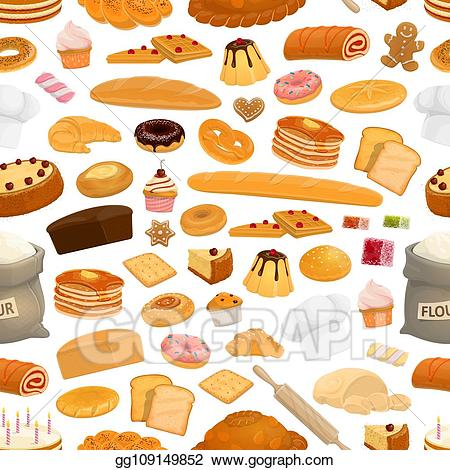Eps vector confectionery sweets. Desserts clipart bakery item
