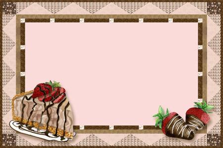 Desserts clipart borders. Free dessert border cliparts
