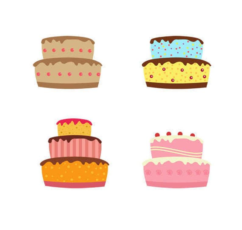 Clip art collection dessert. Desserts clipart cake decorator