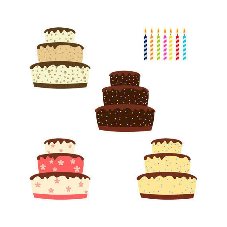 Desserts clipart cake decorator. Birthday cakes clip art