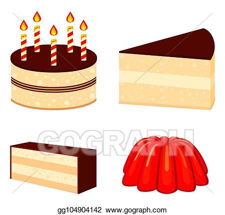 Eps illustration colorful cartoon. Desserts clipart comfort food