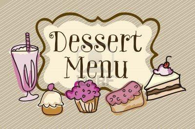 Desserts clipart dessert menu. Stock vector in background