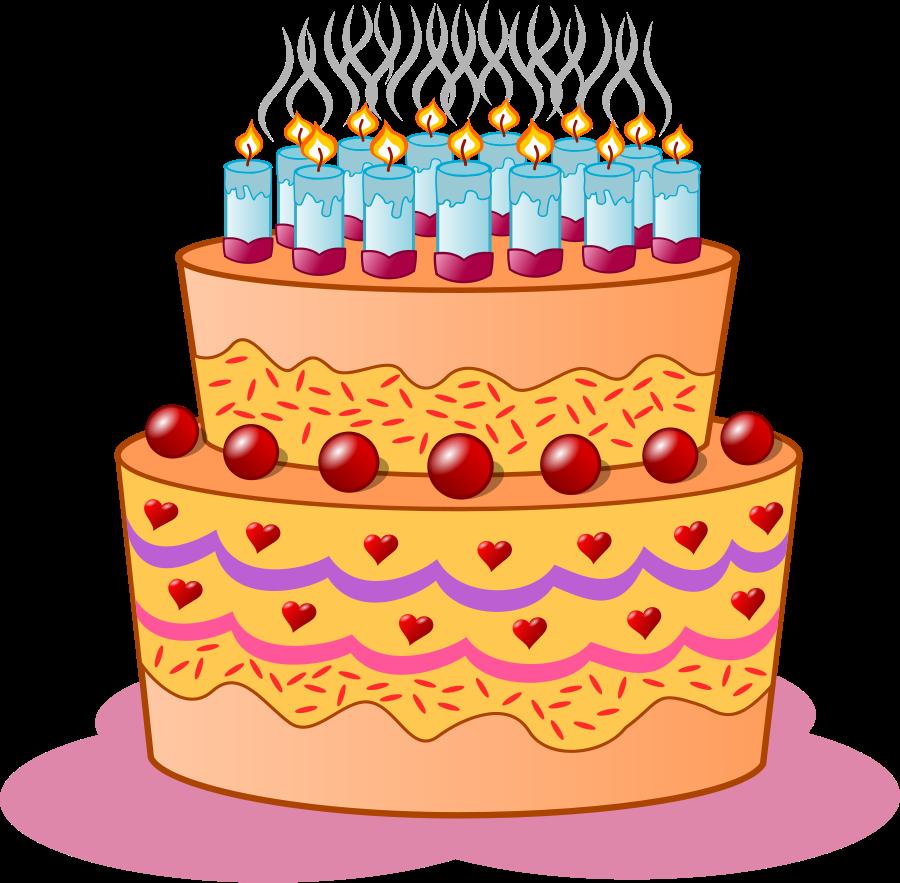 Clipart cake gambar.  mewarnai kue ulang