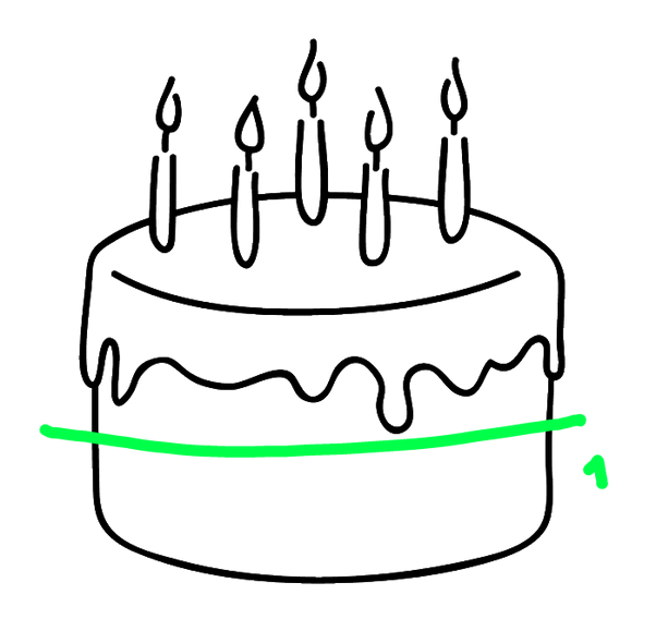 How to cut a. Desserts clipart half cake