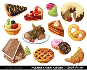 Cliparts zone . Desserts clipart holiday dessert