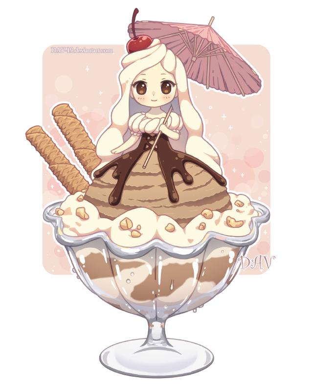 Ice cream by dav. Desserts clipart kawaii