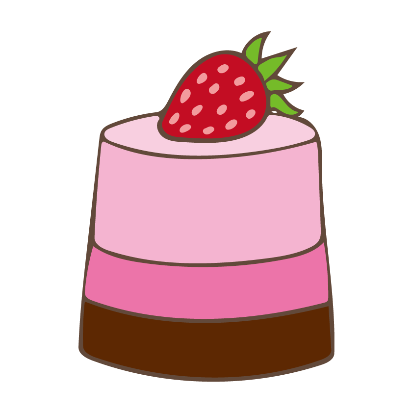 Desserts clipart mousse cake. Sweets free illust net