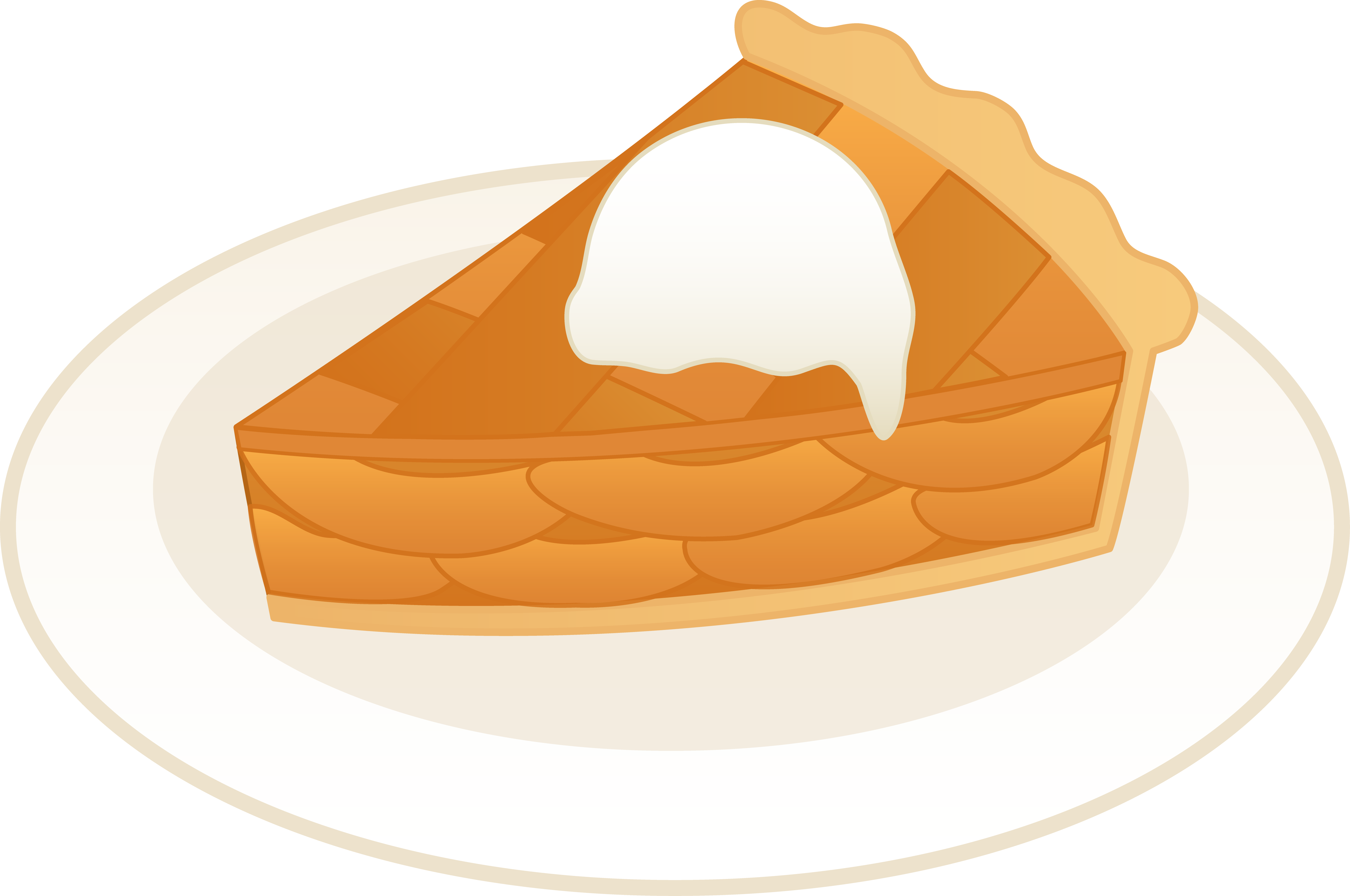 Pie clipart draw. Apple a la mode