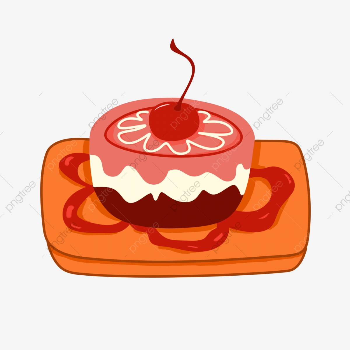 Dessert cake small cup. Desserts clipart snack
