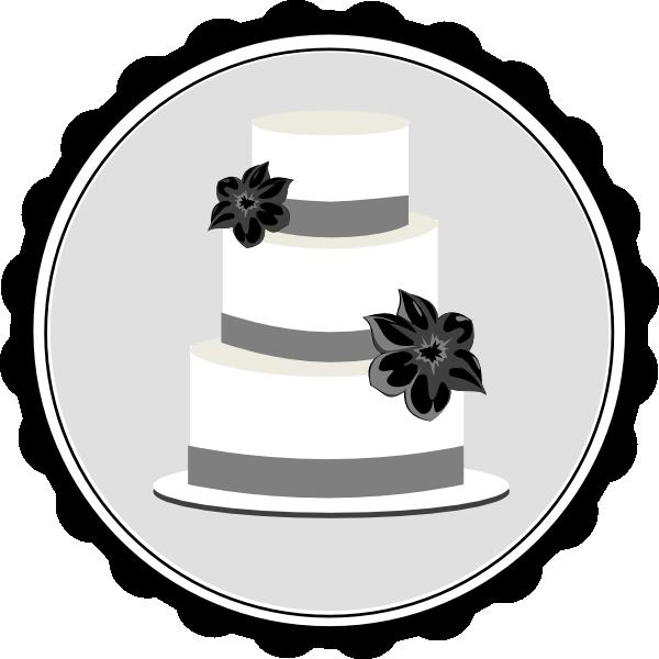 Engagement clipart wedding cake. Black and white panda