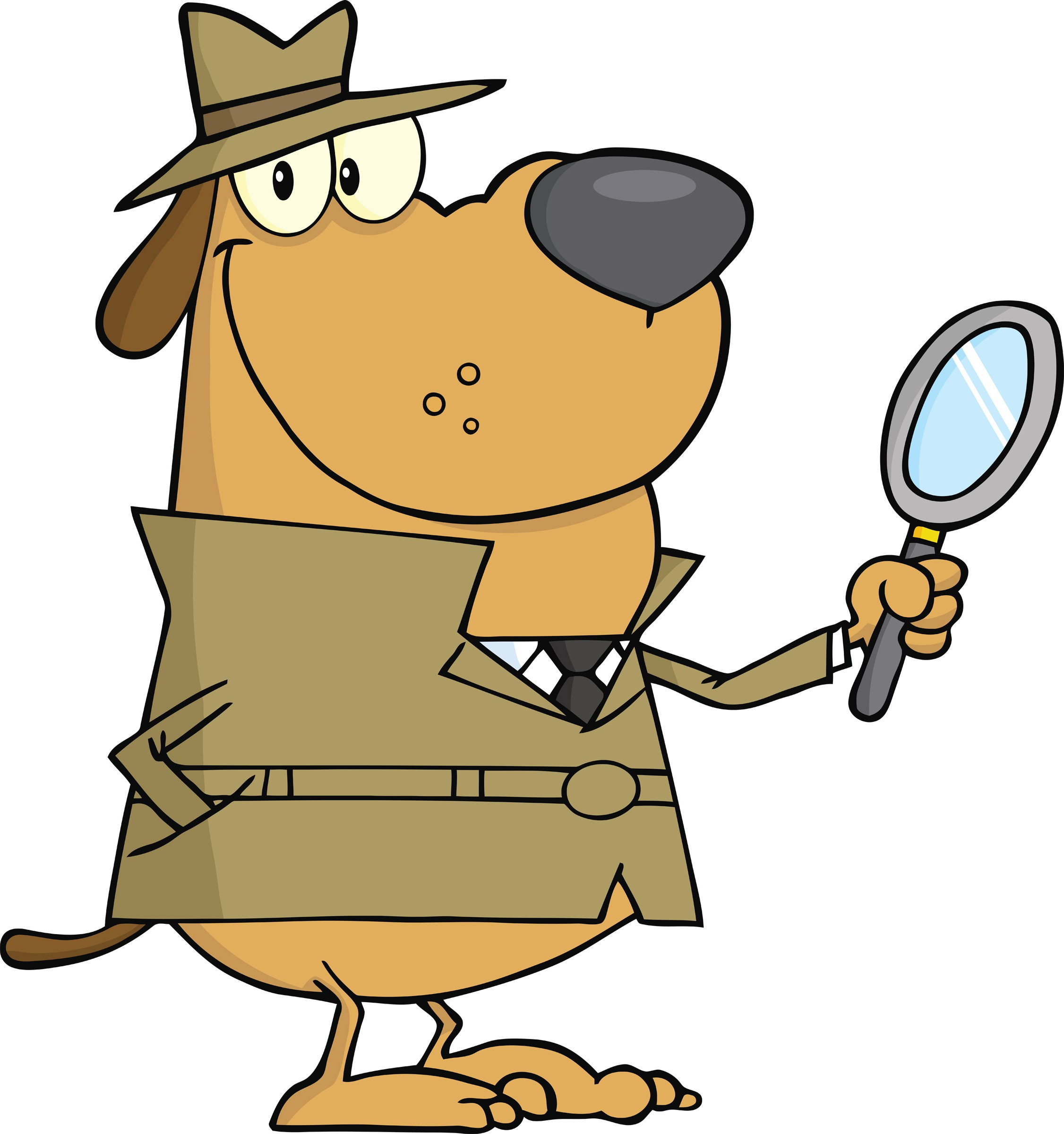 Dog . Detective clipart