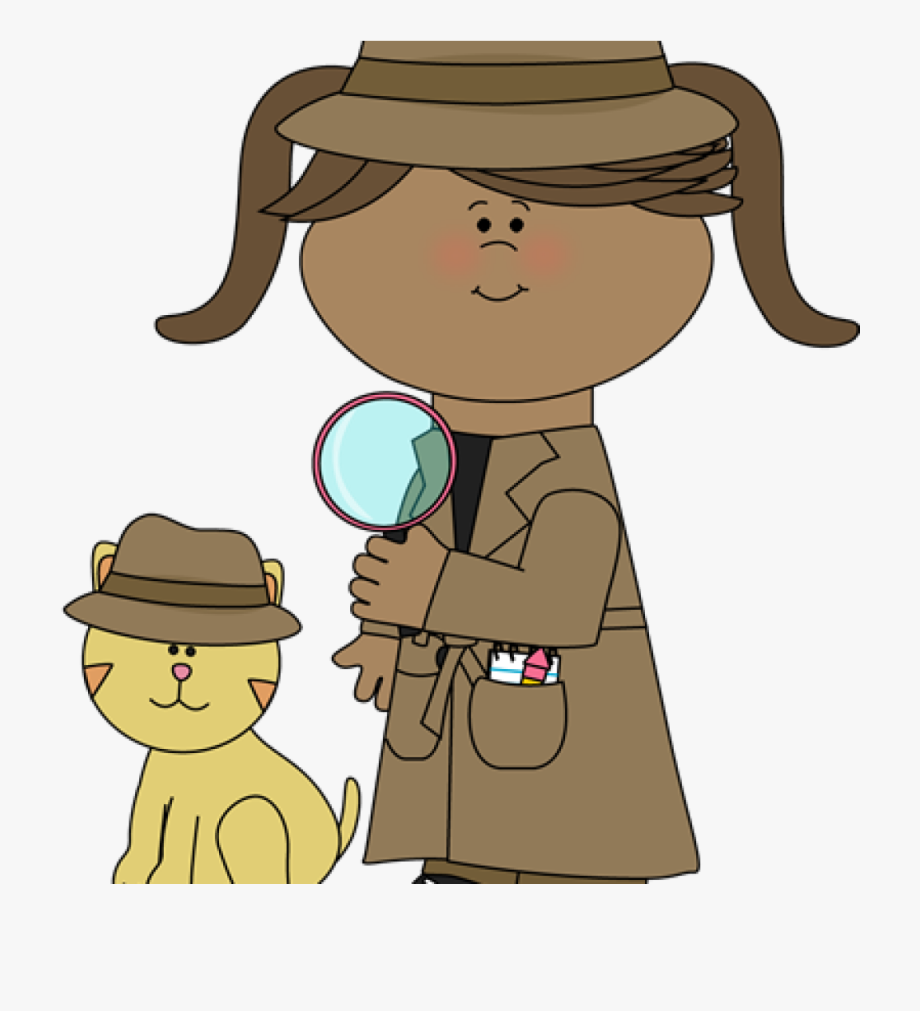 Detective clipart. Student girl walking clip