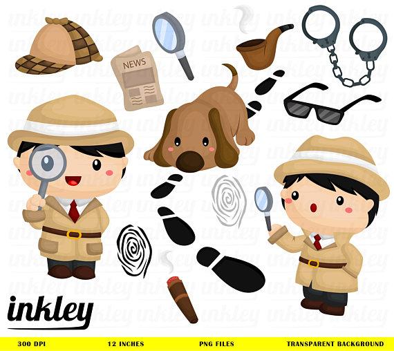 Detective clipart. Clip art png dog