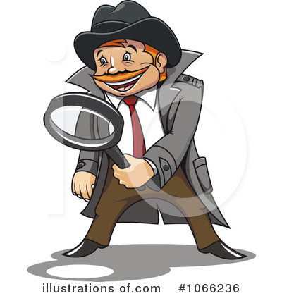 Detective clipart. Illustration by vector tradition
