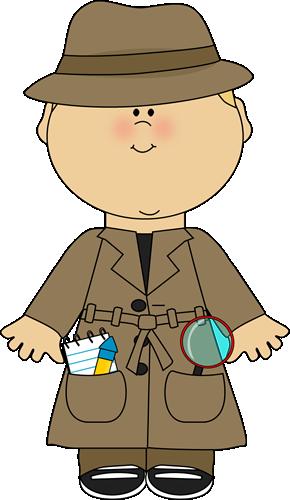 Clip art images boy. Detective clipart