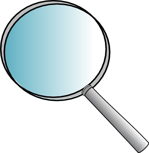 Big magnifying glass clip. Mirror clipart large