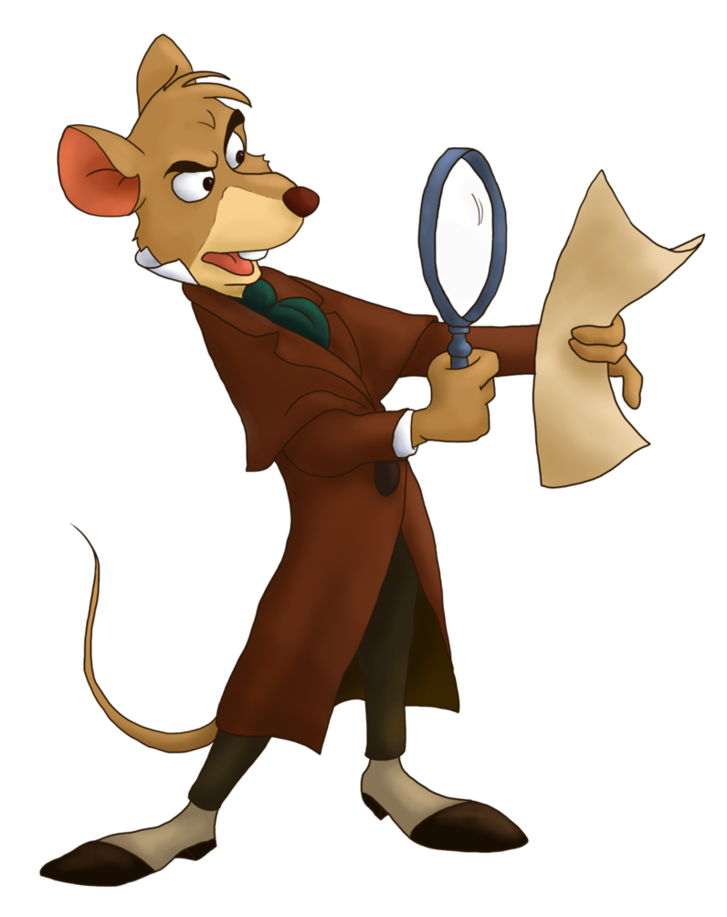 Detective clipart animation. Basil by mildartattack on