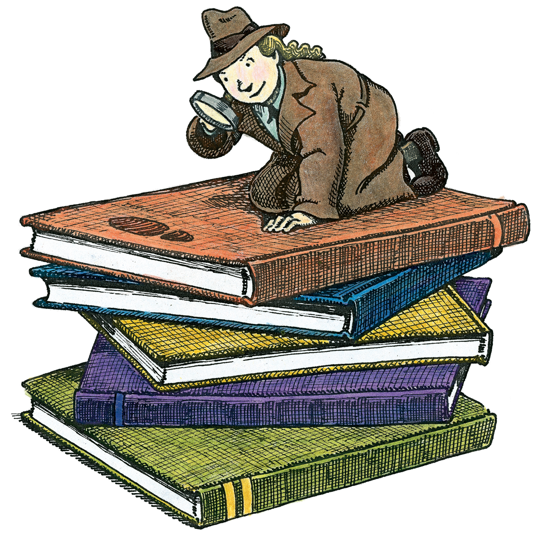 Book . Hypothesis clipart lady detective