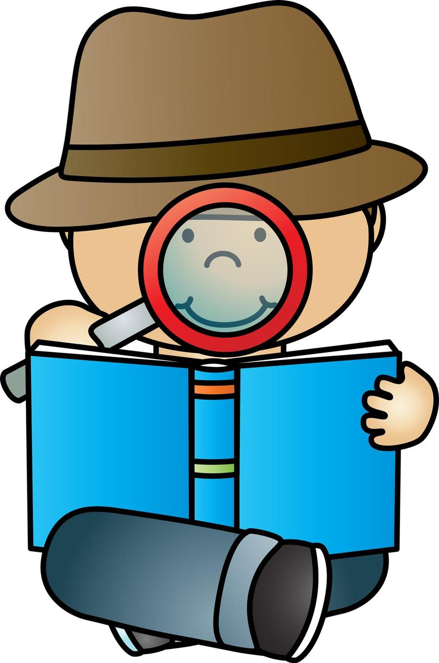 Download reading geography . Detective clipart boy