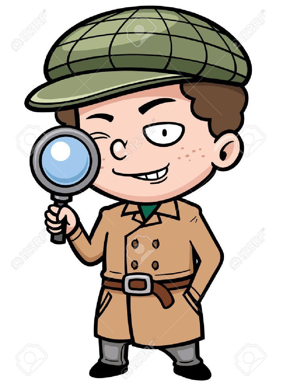Detective clipart boy. Stock photo detectives fictional