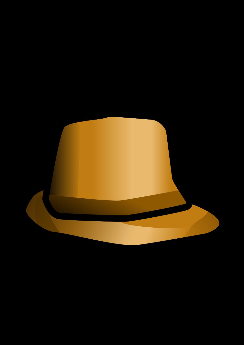 Detective clipart cap. File inspector hat svg