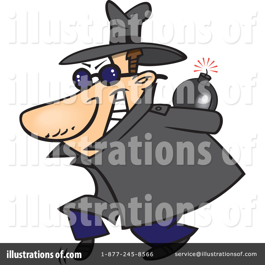 Detective clipart circumspect. Illustration by toonaday