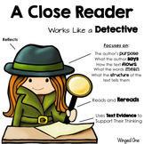 Worksheets teaching resources tpt. Detective clipart close reading